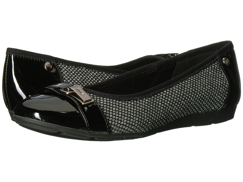 Anne Klein Able (Silver/Black Multi Fabric) Women
