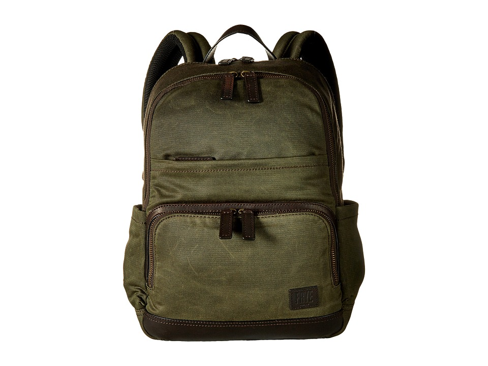 Frye - Carter Backpack (Olive Canvas) Backpack Bags