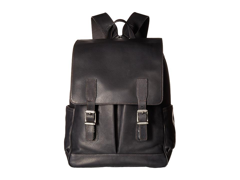 Frye - Oliver Backpack (Black Soft Tumbled Full Grain) Backpack Bags