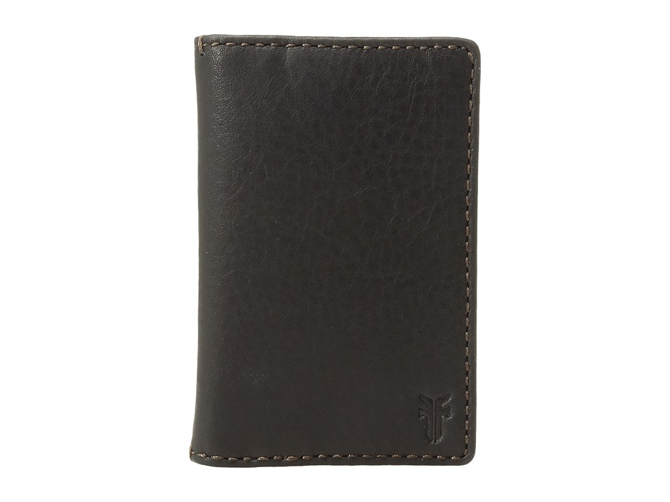 Frye - Oliver Bi-Fold (Black Soft Tumbled Full Grain) Bi-fold Wallet