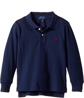 Polo Ralph Lauren Kids - Cotton Mesh Long Sleeve Polo Top (Toddler)