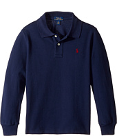 Polo Ralph Lauren Kids - Cotton Mesh Long Sleeve Polo Top (Little Kids/Big Kids)