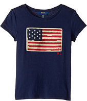 Polo Ralph Lauren Kids - Washed Cotton Graphic Tee (Little Kids/Big Kids)