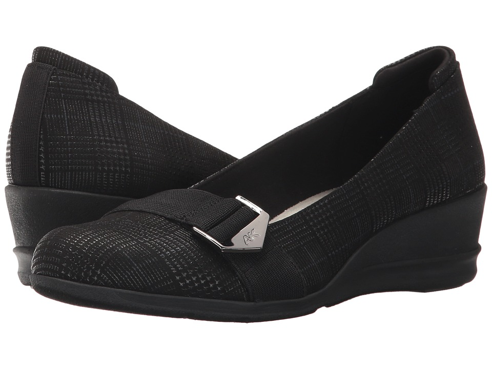 Anne Klein - Cici (Black Fabric) Womens Shoes