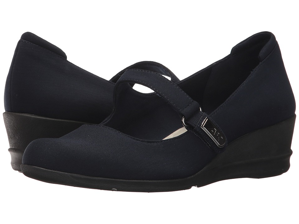 Anne Klein - Cindie (Navy Fabric) Womens Shoes