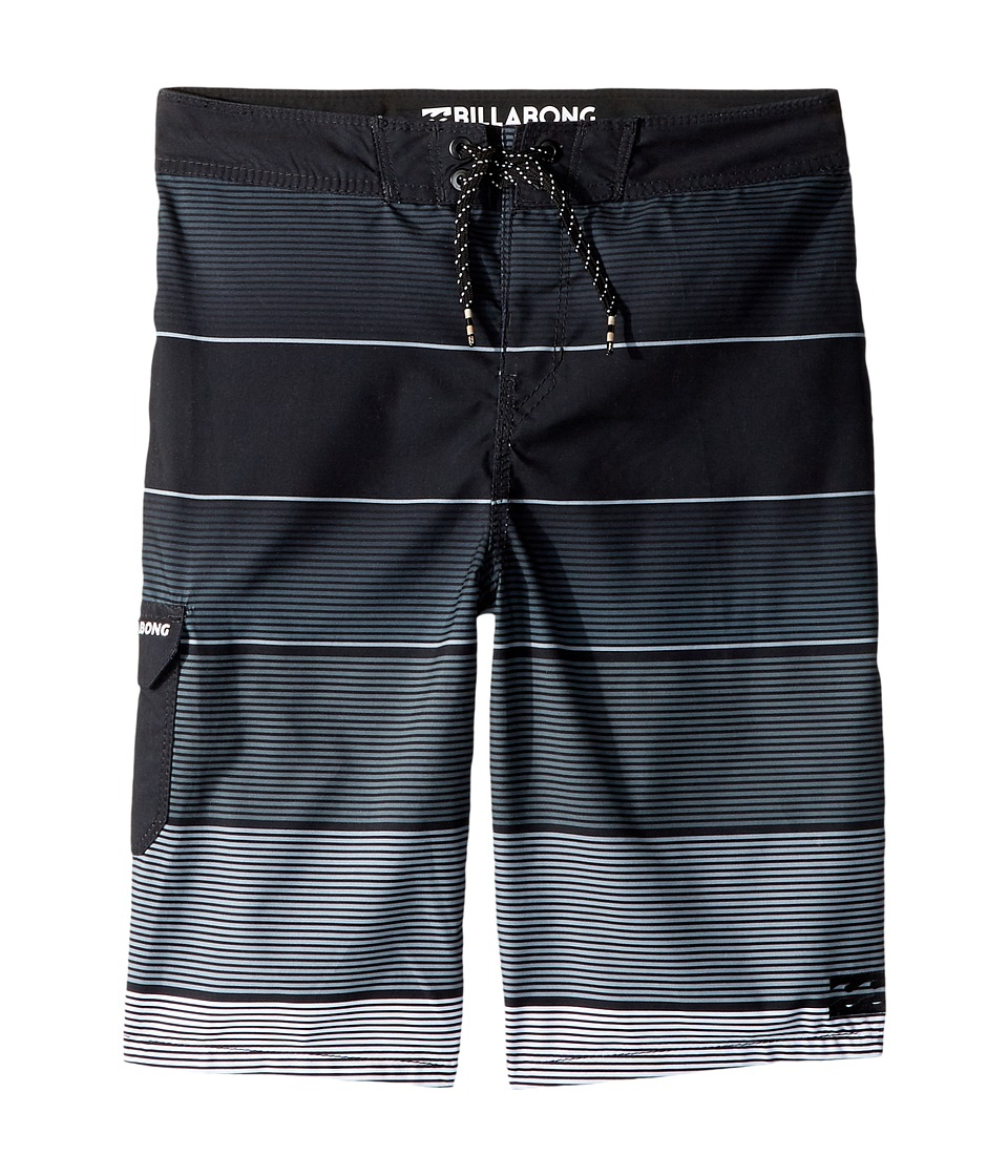 Billabong Kids All Day OG Stripe Boardshorts (Big Kids) (Stealth) Boy