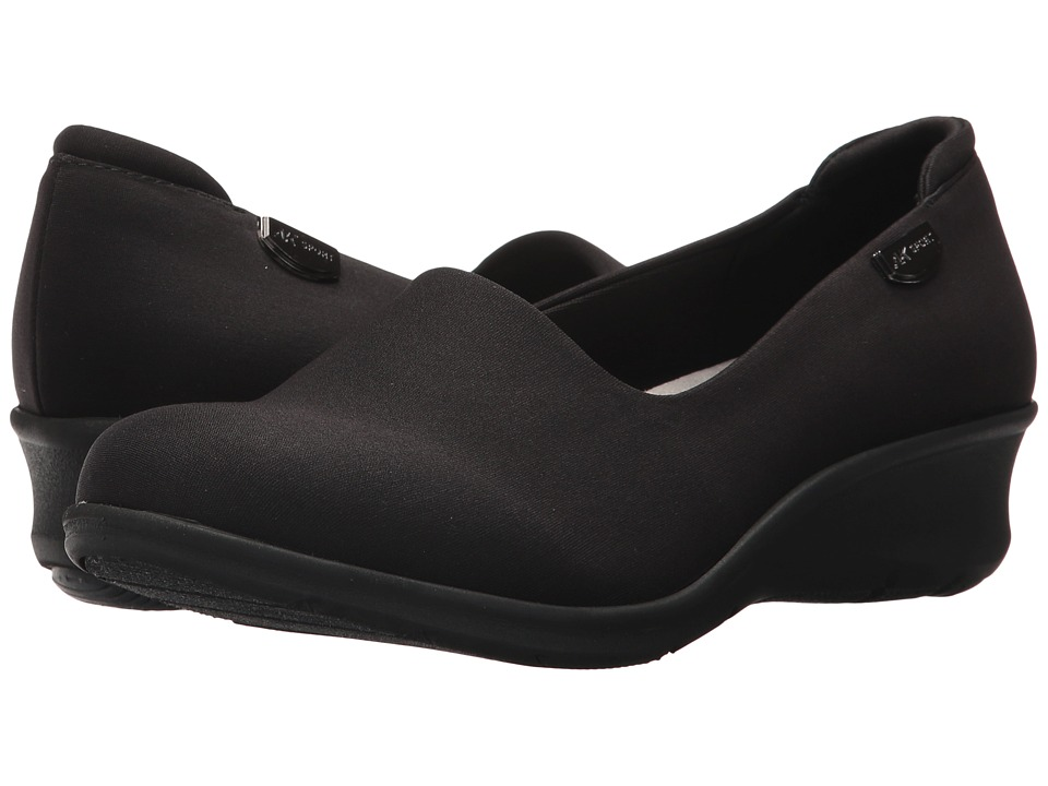 Anne Klein - Sasha Flat (Black Fabric) Womens Shoes