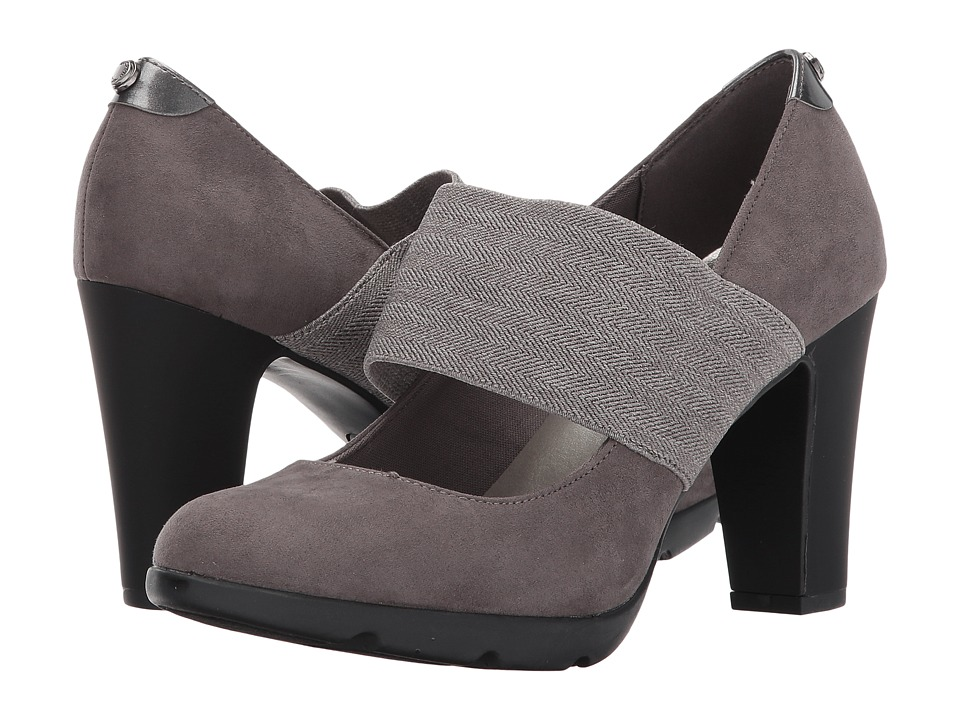 Anne Klein - Xin (Dark Grey Fabric) Womens Shoes