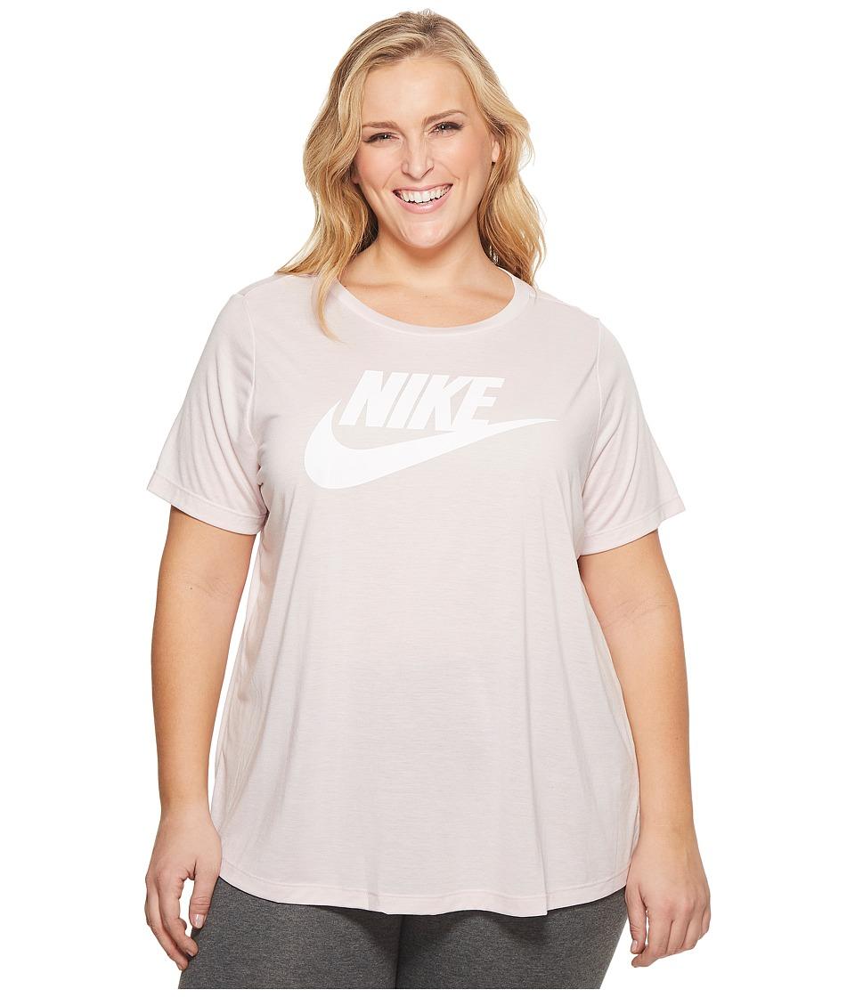 Nike Sportswear Essential T-Shirt (Size 1X-3X) (Barely Rose/White) Women