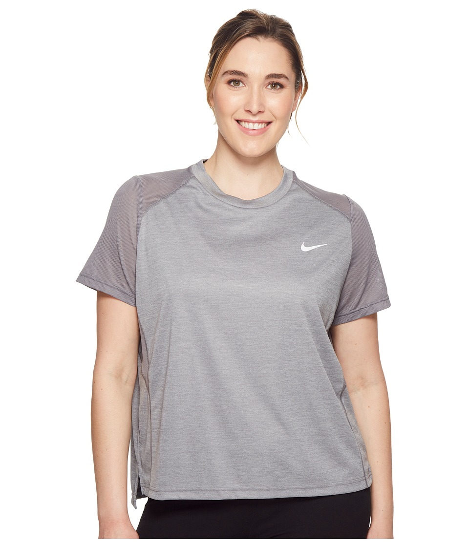 Nike Dry Miler Short-Sleeve Running Top (Sizes 1X-3X) (Gu...