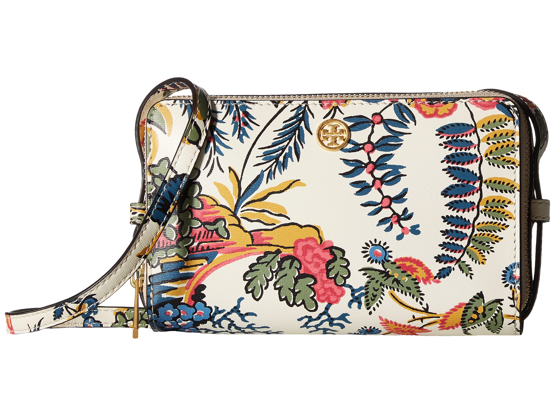 Tory Burch Parker Floral Double-Zip Mini Bag At Zappos.com