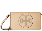 Tory Burch Perforated Logo Flat Wallet Crossbody