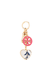 Tory Burch - Logo & Heart Printed Key Fob