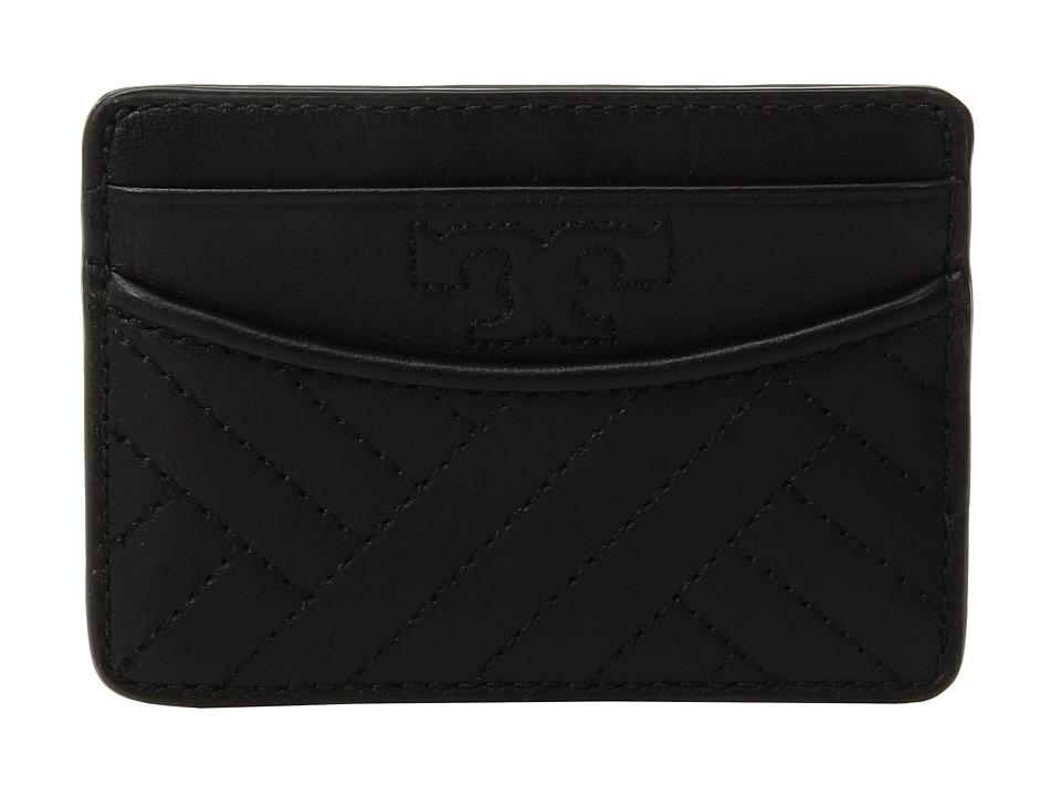 Tory Burch Alexa Slim Card Case (Black) Cosmetic Case