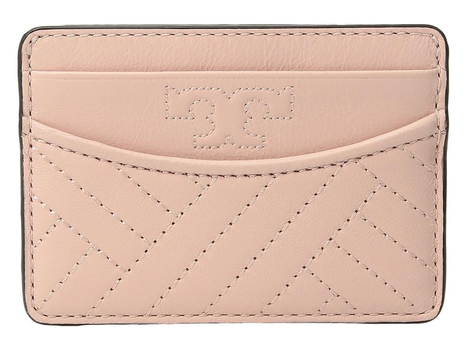 Tory Burch Alexa Slim Card Case (Dark Pink Quartz) Cosmetic Case