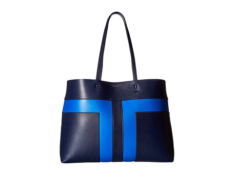 Tory Burch Block-T Pieced Tote - Royal Navy/Galleria Blue