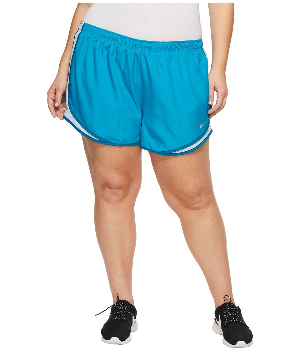 Nike Dry Tempo Running Short (Size 1X-3X) (Blue Force/Blue Force/Obsidian/Wolf Grey) Women