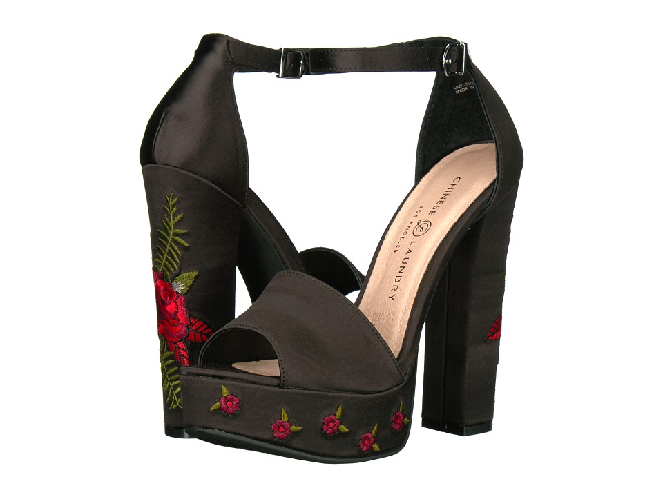 Chinese Laundry Amy (Black Satin) High Heels