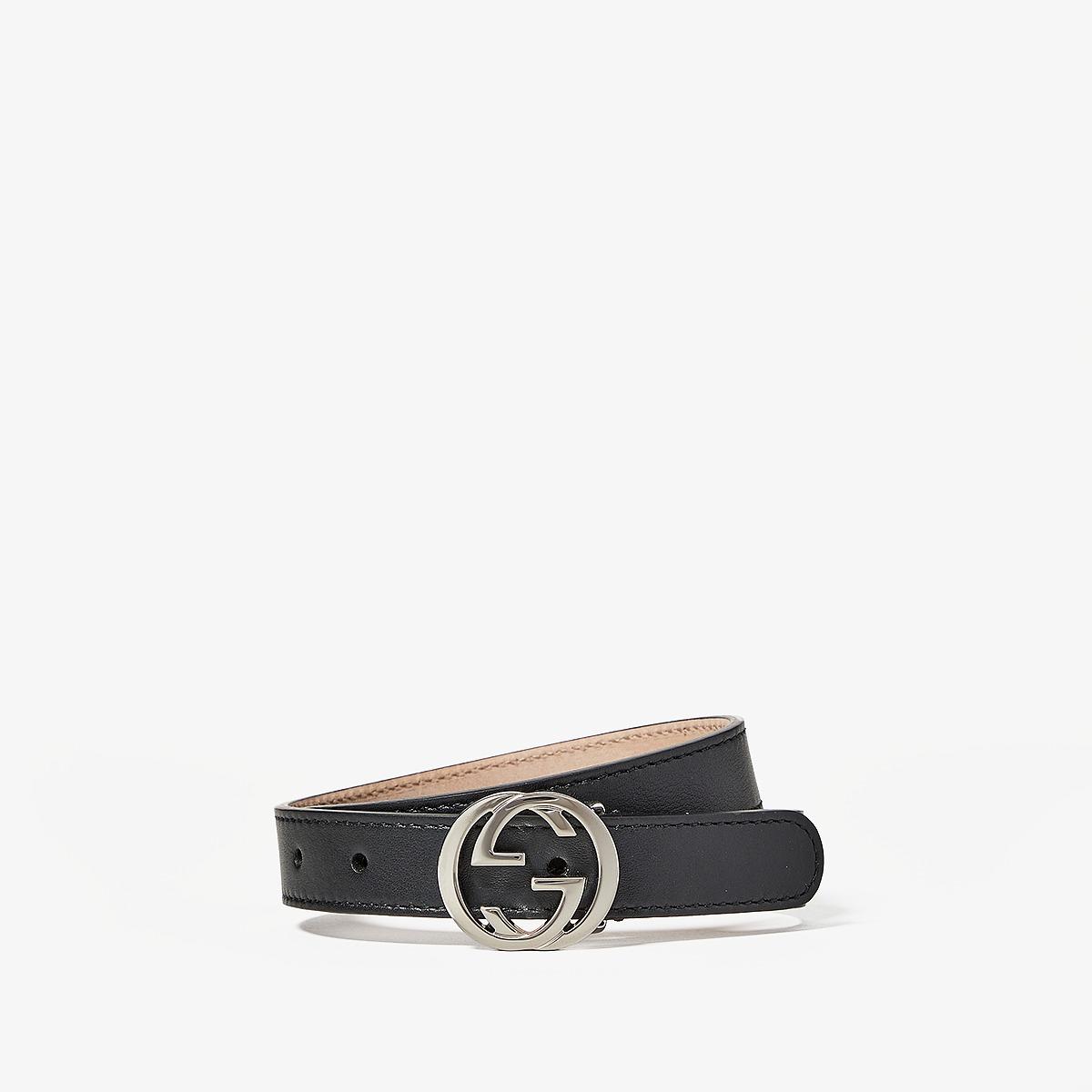 Gucci Kids - Belt 258395B960N (Little Kids/Big Kids) (Black) Kids Belts