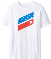 Hurley Kids - Icon Slash Flag Fill Short Sleeve Tee (Big Kids)