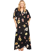 Rachel Pally - Plus Size Long Caftan Drawstring WL Print