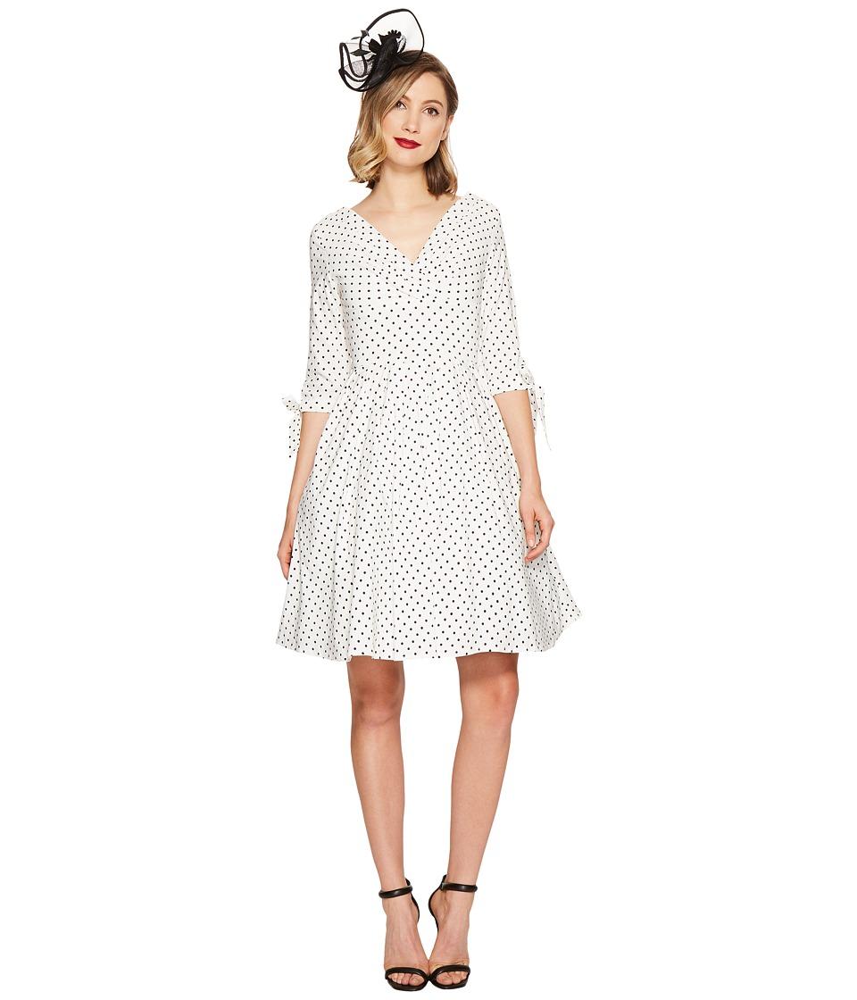 Unique Vintage Diane Swing Dress (White/Black Dot) Women
