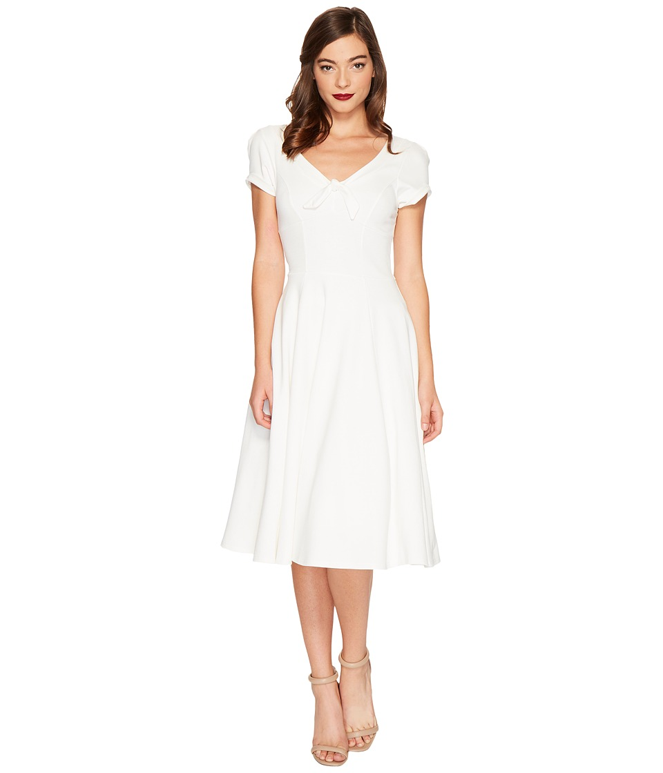 Unique Vintage Natalie Knit Flared Dress (Ivory) Women