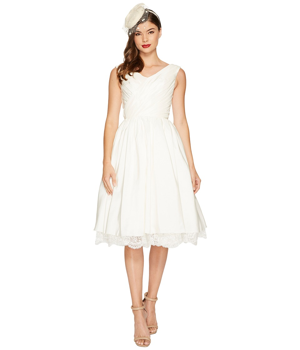 Unique Vintage Marseille Tea Length Dress (White) Women