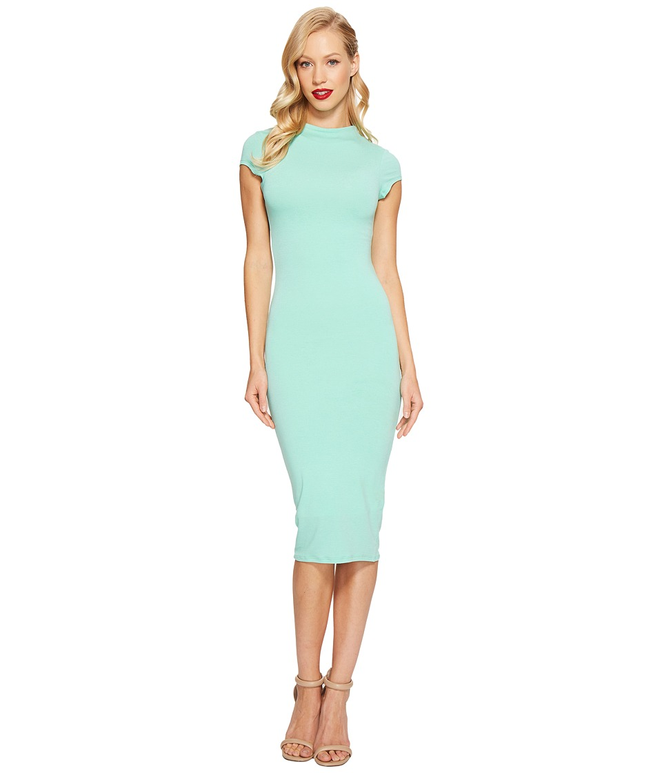 Unique Vintage Holly Wiggle Dress (Dark Mint) Women