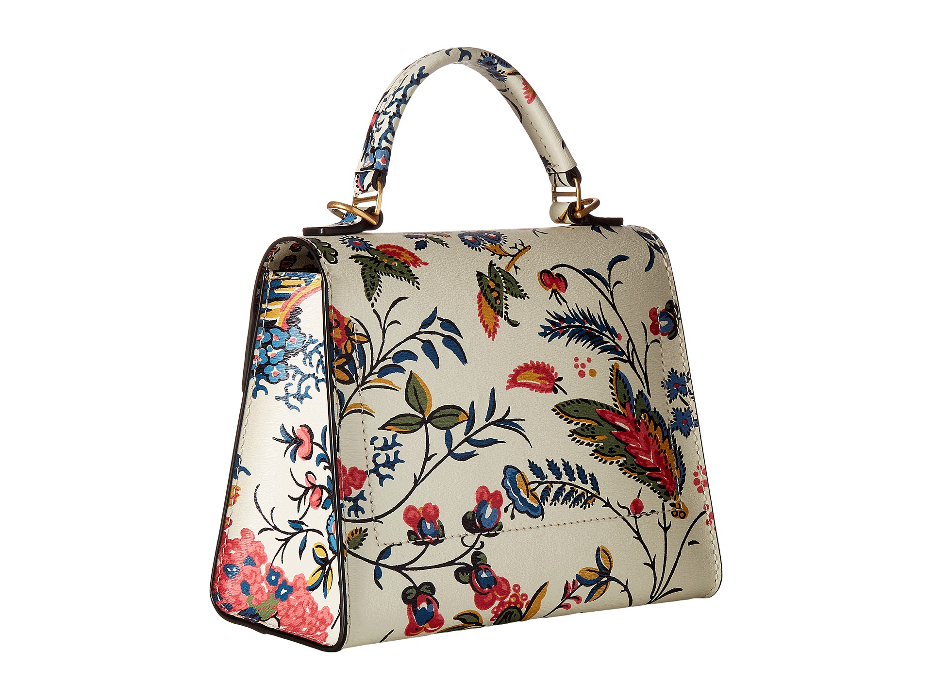 Tory Burch Parker Floral Small Satchel Gabriella Floral - Zappos.com Free Shipping BOTH Ways