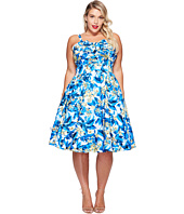 Unique Vintage - Plus Size Golightly Bow Swing Dress
