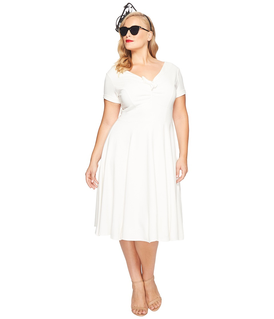 Unique Vintage - Plus Size Natalie Knit Flared Dress