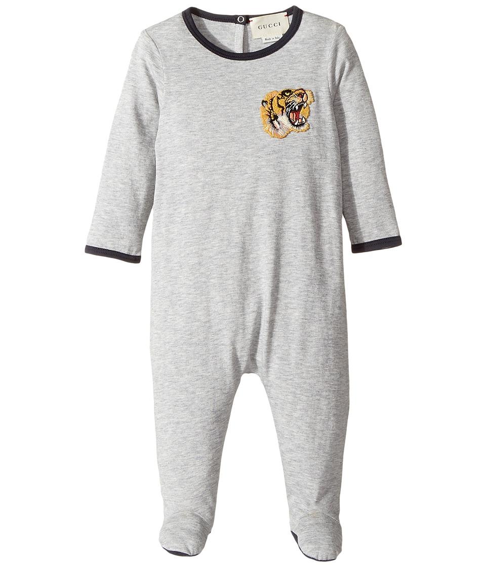 Gucci Kids - Sleep Suit 475786X5U72 (Infant) (Grey) Boys Jumpsuit & Rompers One Piece