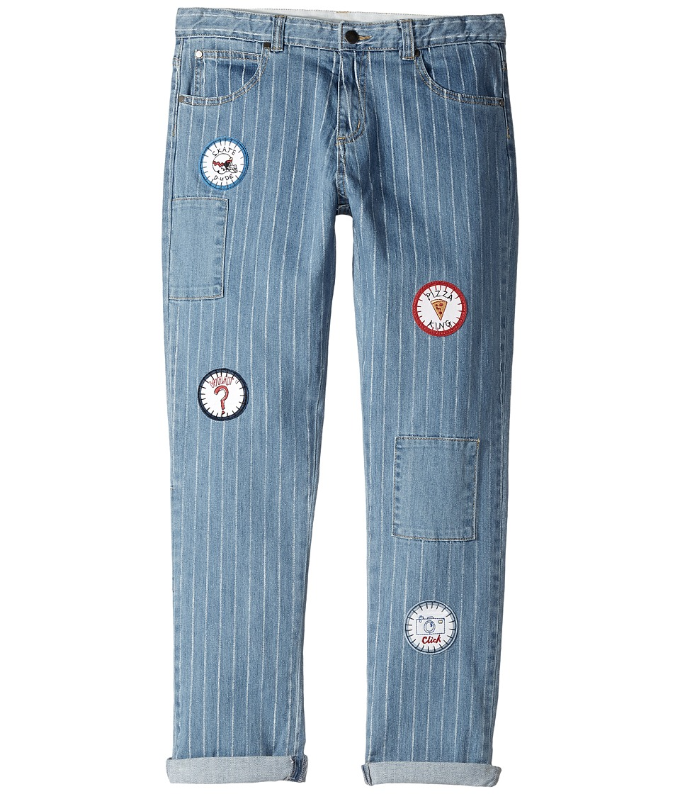 Stella McCartney Kids - Lohan Pinstripe Jeans with Patches