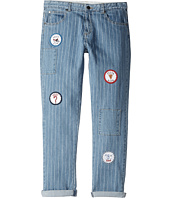 Stella McCartney Kids - Lohan Pinstripe Jeans with Patches (Toddler/Little Kids/Big Kids)