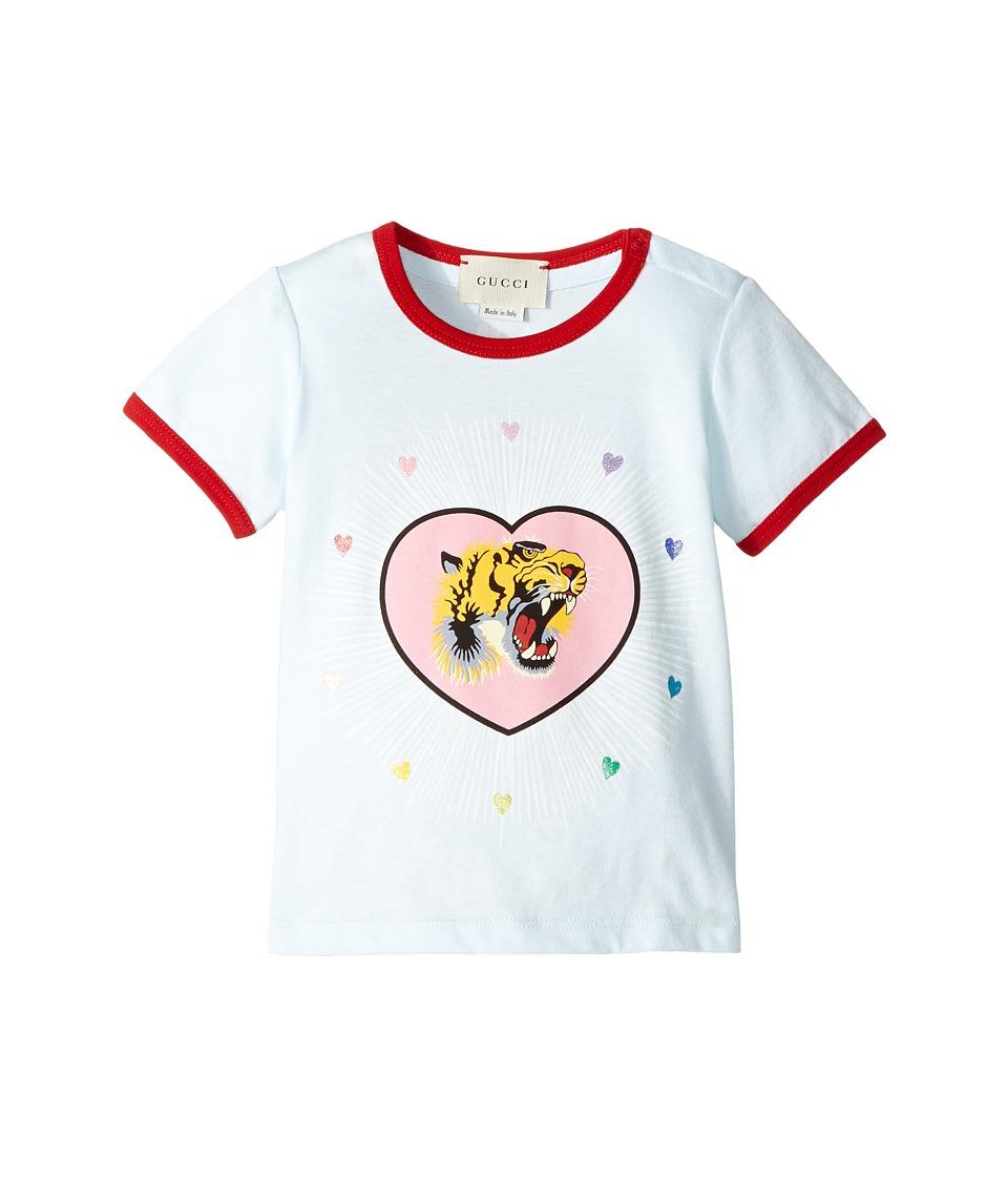 Gucci Kids - T-Shirt 478348X3G76 (Infant) (Blue/Flare) Gi...