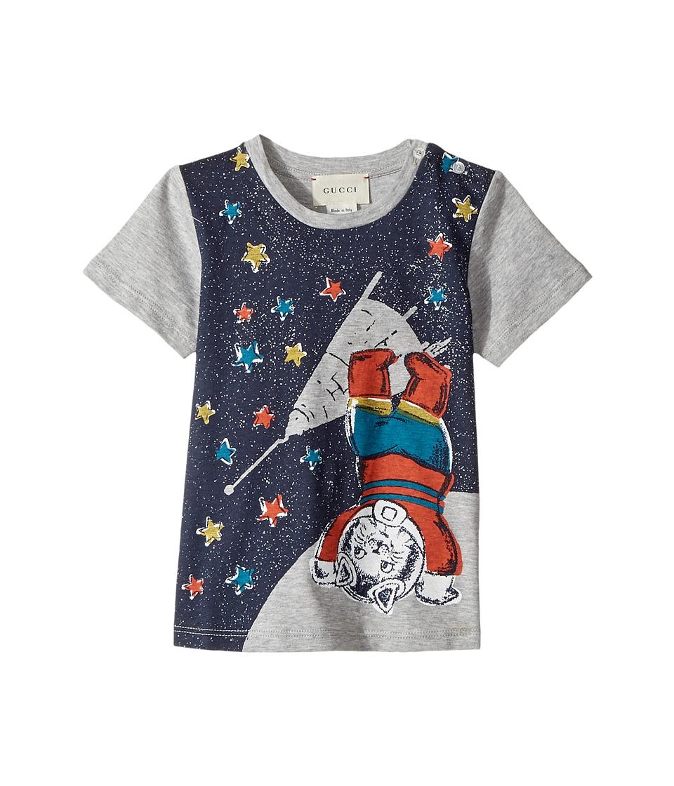Gucci Kids - T-Shirt 483920X3G29 (Infant) (Grey/Blue) Boys T Shirt