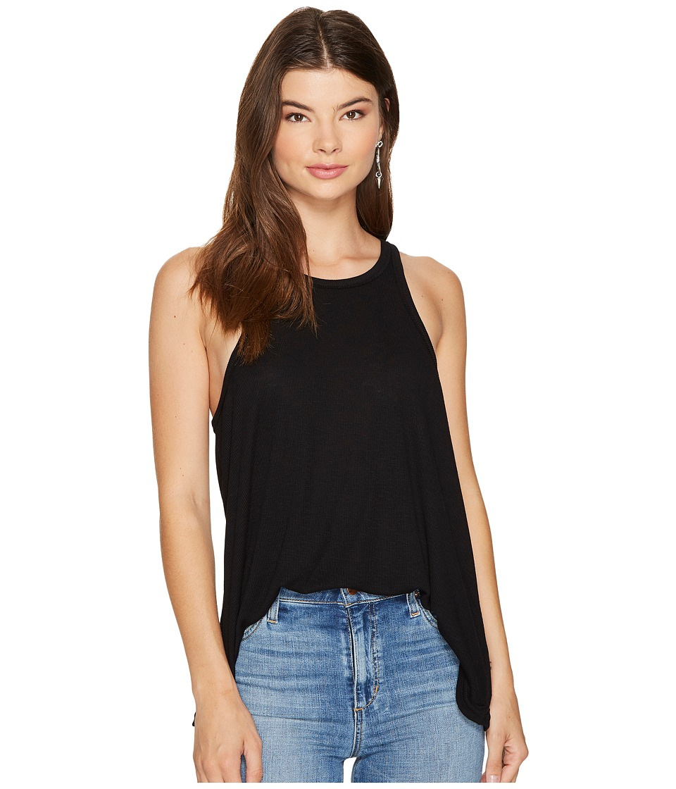 Free People Long Beach Tank Top (Black) Women