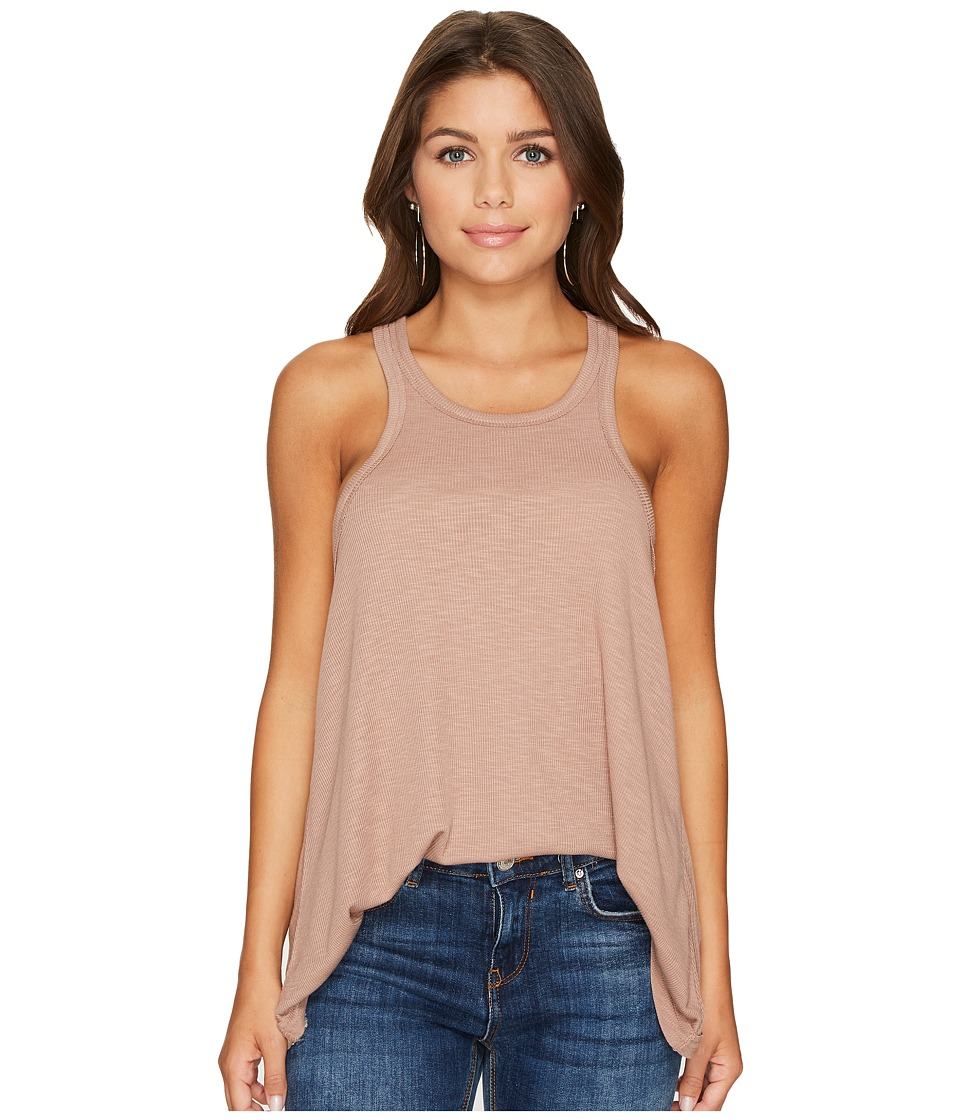 Free People Long Beach Tank Top (Mushroom) Women