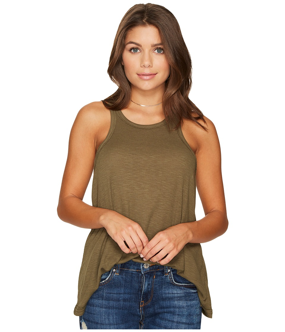 Free People Long Beach Tank Top (Army) Women