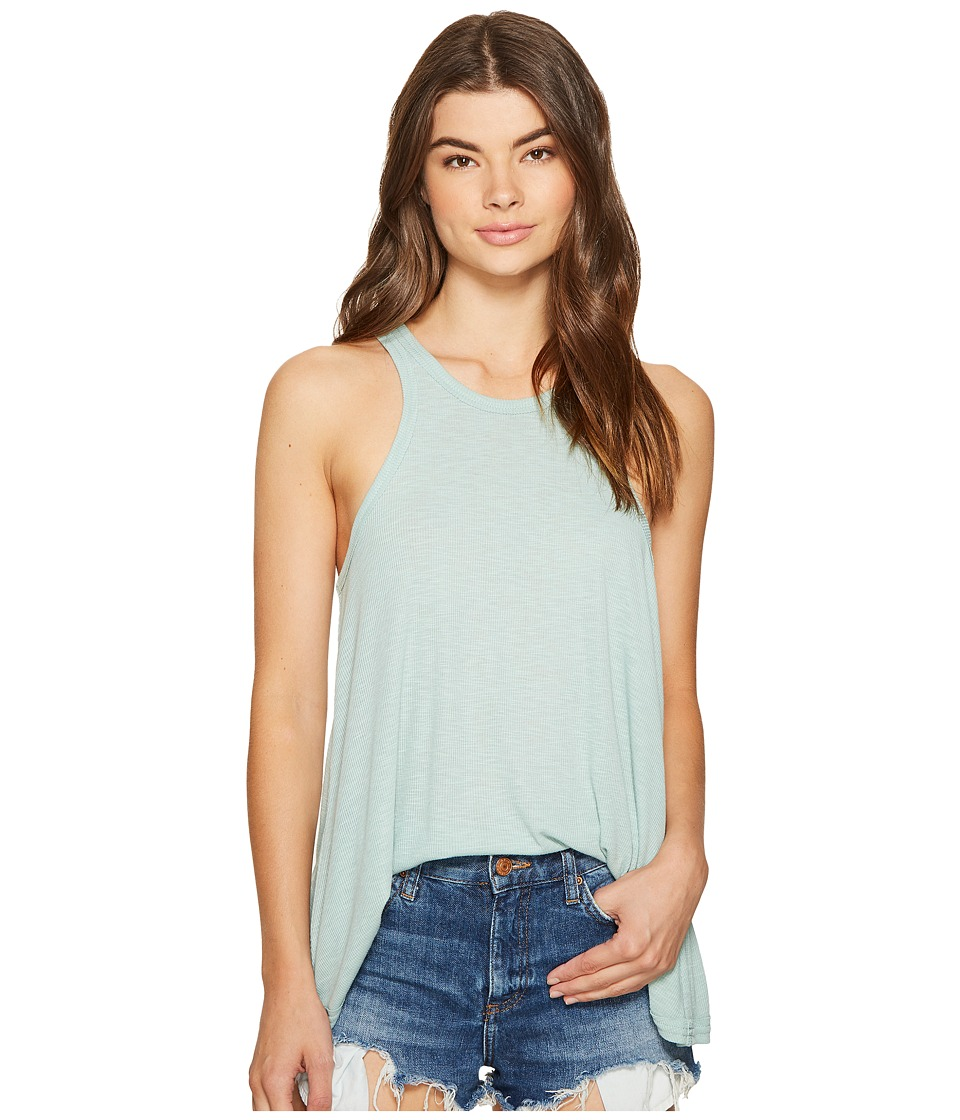 Free People Long Beach Tank Top (Light Green) Women
