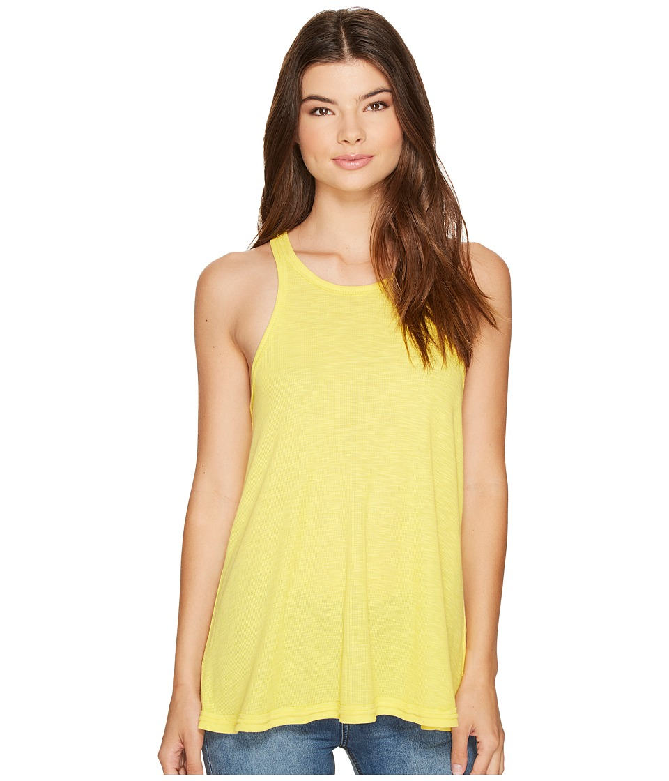 Free People Long Beach Tank Top (Sun Yellow) Women