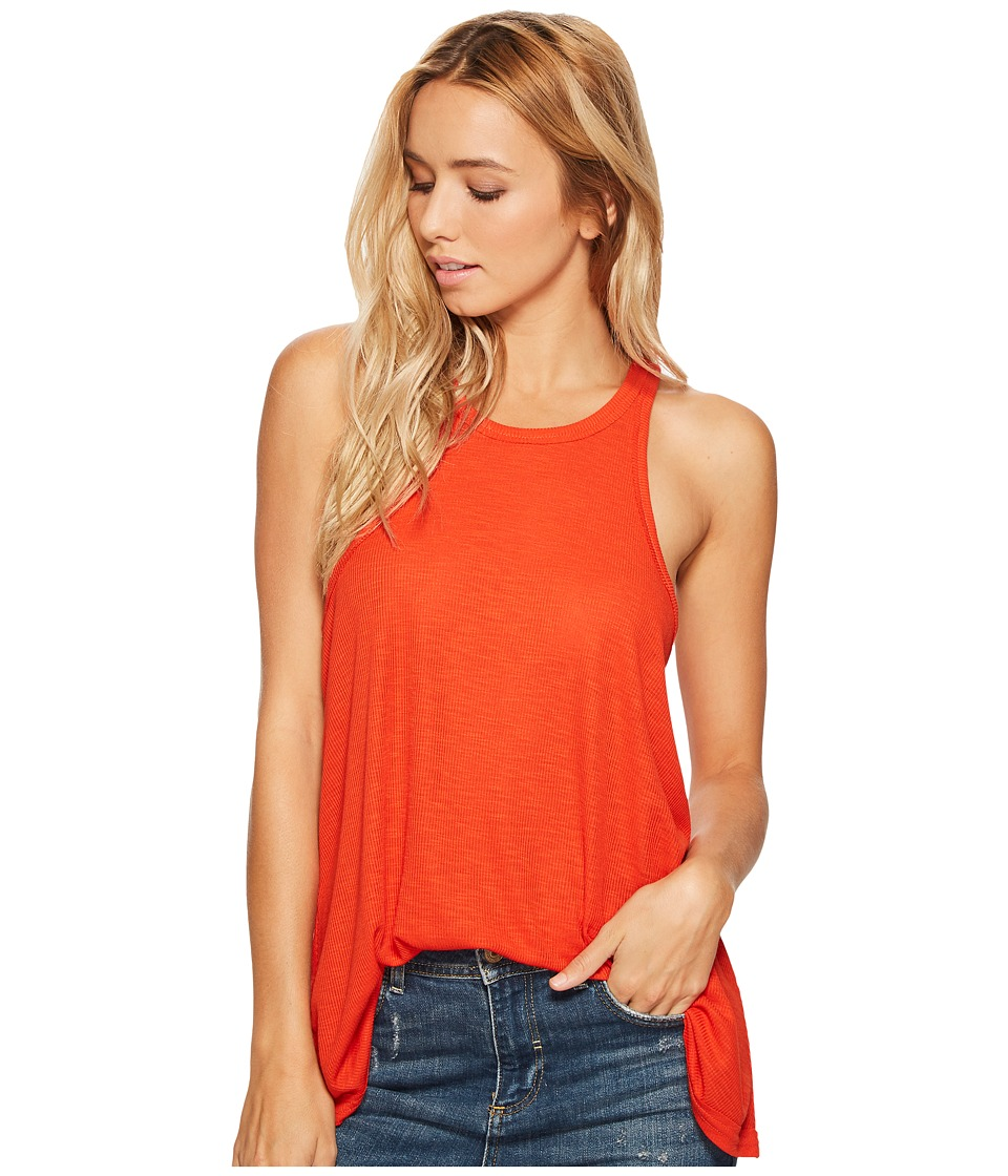 Free People Long Beach Tank Top (Red) Women