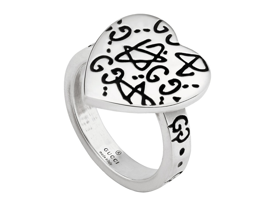 Gucci Ghost Heart Ring (Silver) Ring