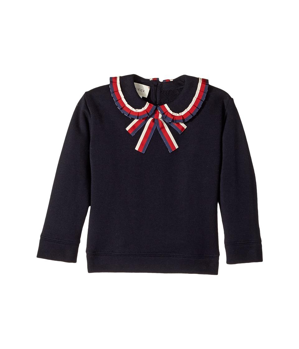 Gucci Kids - Sweatshirt 478368X9A85 (Infant) (Blue/Red) Girls Sweatshirt