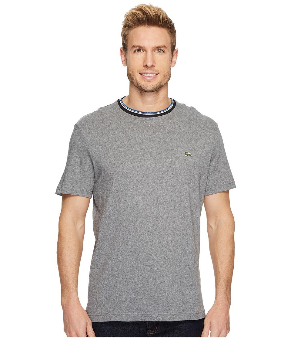 Lacoste Short Sleeve Semi Fancy Jersey Tee Regular Fit (Galaxite Chine) Men