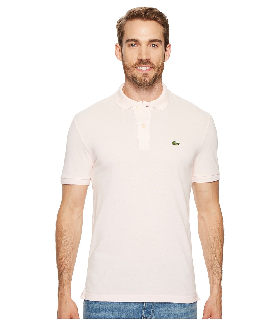 Lacoste Short Sleeve Slim Fit Pique Polo (Flamingo) Men's Short Sleeve Pullover