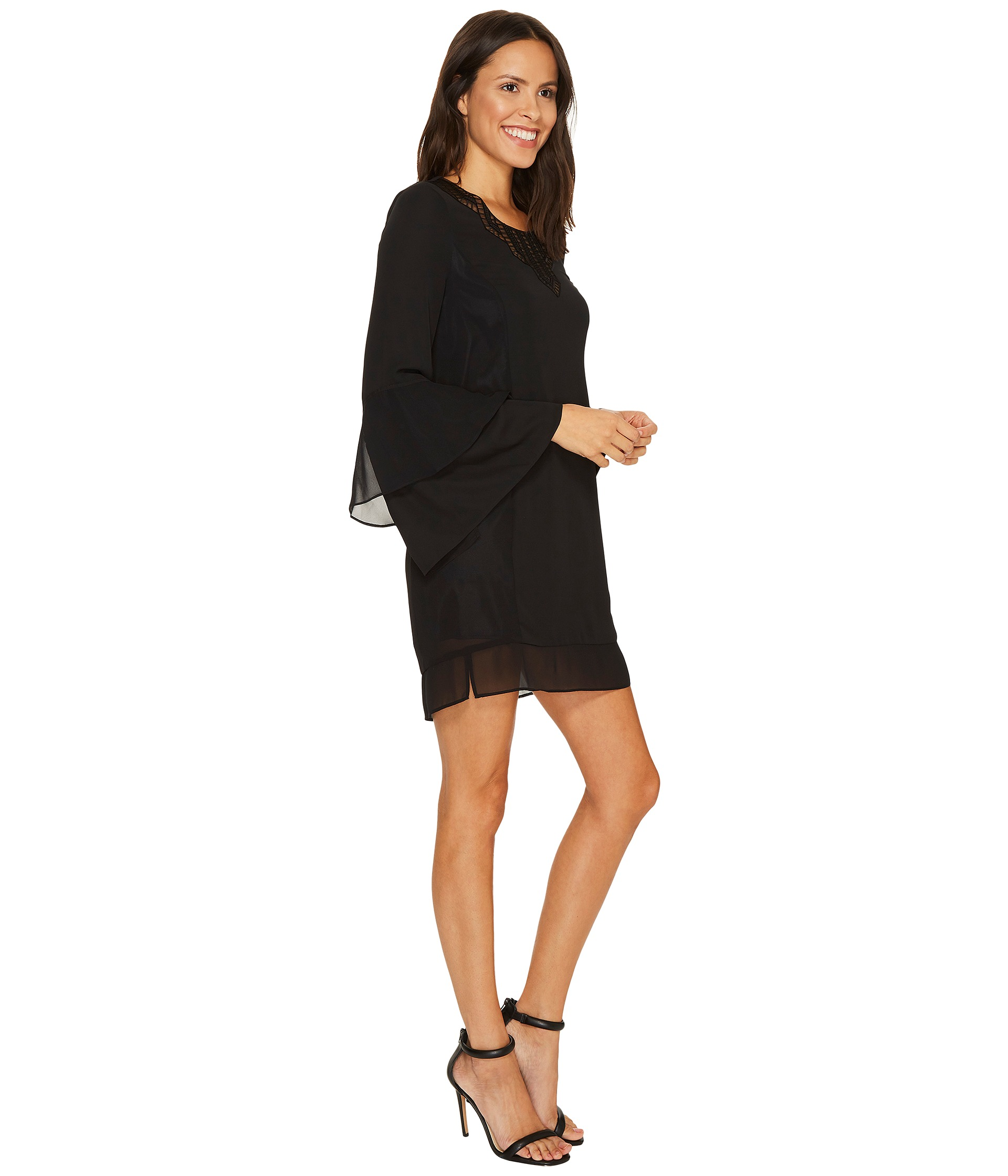 laundry by shelli segal laundry by shelli segal mixed media dress at zappos 12096