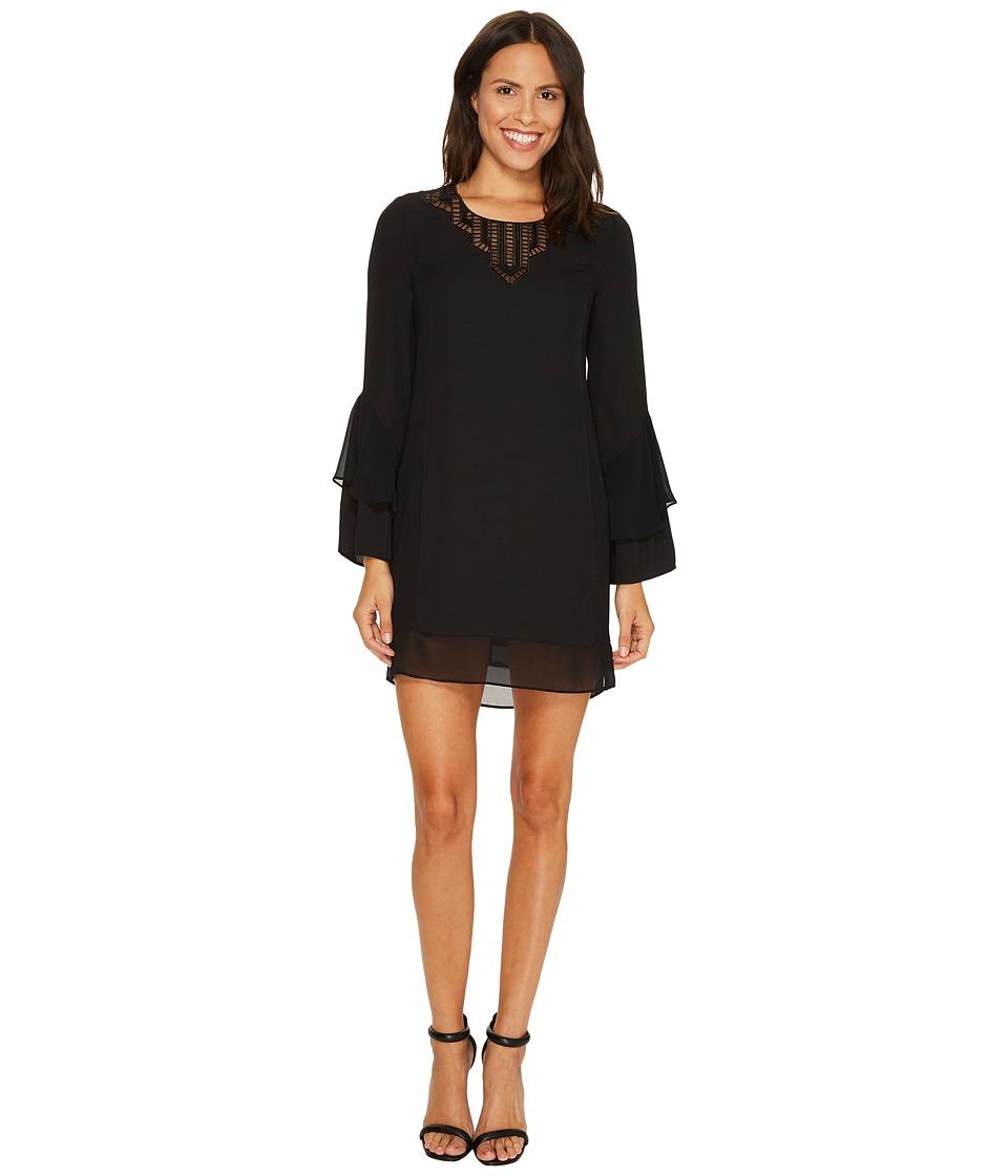 Laundry by Shelli Segal Mixed Media Dress (Black) Women