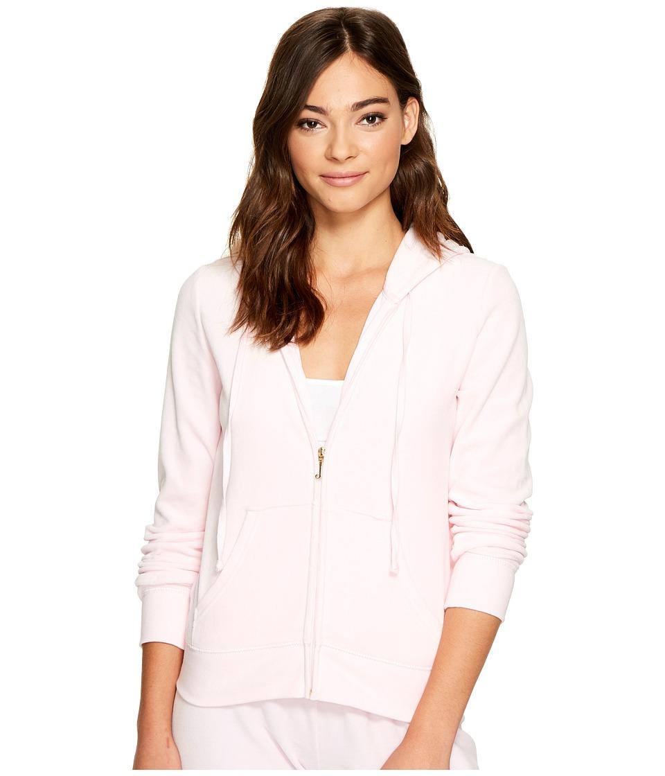 Juicy Couture Robertson Velour Jacket (Whisper Pink) Women